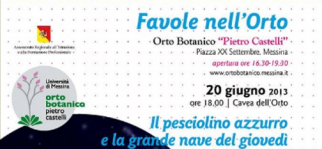 Favole all'Orto Botanico di Messina